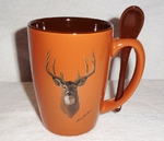 SB10301.WTDA - Terracotta Rust with Whitetail Deer  Head SB10301.WTDA