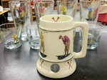 SS10305.GLF - 24 oz. Gold Band Collector Stein  - Vintage Golfer Series SS10305.GLF