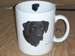 SM114.BLAB - Bright White Super Sized Black Lab Lab 30oz. Mug SM114.BLAB
