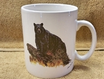 SM114.LBB - Bright White Super Sized Bear on Log 30oz. Mug SM114.LBB