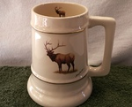 SS10305.ELKB - 24 oz. Gold Band Collector Stein  - Big Game Standing Elk SS10305.ELKB