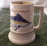 SS10305.MAR - 24 oz. Gold Band Collector Stein  - Big Game Offshore Marlin SS10305.MAR
