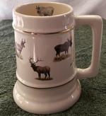SS10305.BGMB - 24 oz. Gold Band Big Game Animal Collector Stein SS10305.BGMB