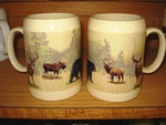 SS111.BGMBW - 22 oz. Stoneware Stein - Big Game Animal Wrap SS111.BGMBW
