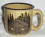 TM10148.CBN - Almond 15oz Rustic Cabin Mug TM10148.CBN