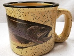 TM10148.CUTH - Almond 15oz Cutthroat Trout Trail Mug TM10148.CUTH