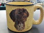 TM10148.GER - 15oz Almond Trail Mug - German Shorthair TM10148.GER