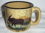 TM10148.LMW - Almond 15oz Scenic Moose Trail Mug TM10148.LMW