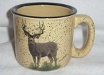 TM10148.MUDB - Almond 15oz Standing Mule Deer Trail Mug TM10148.MUDB