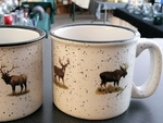 TM10178.BGMB - 15oz White Trail Mug - Big Game Animals TM10178.BGMB