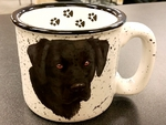 TM10178.BLABPAW - White15oz Black Lab Trail Mug TM10178.BLABPAW