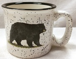 TM10178.BLKB - 15oz White Trail Mug - Standing Bear TM10178.BLKB
