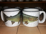 TM10178.BRNH - 15oz White Trail Mug - Brown Trout TM10178.BRNH