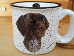 TM10178.GER - 15oz German Shorthair White Trail Mug TM10178.GER