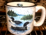 TM10178.LLW - 15oz White Trail Mug - Scenic Loon TM10178.LLW