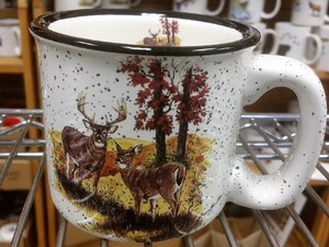 TM10178.LWC - 15oz White Trail Mug - Landscape Deer Couple TM10178.LWC