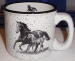 TM10178.MRFL - 15oz White Trail Mug - Mare and Foal Silhouette TM10178.MRFL