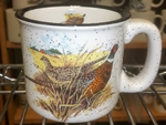 TM10178.PHFC - 15oz White Trail Mug - Pheasant Farm Scene TM10178.PHFC