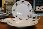 WR10338.BGMB - Rustic Wildlife Wide Rim 16pc Dinnerware set - Big Game Animals WR10338.BGMB