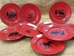 WS10312SP - Crimson Red Salad Plates Only WS10312SP