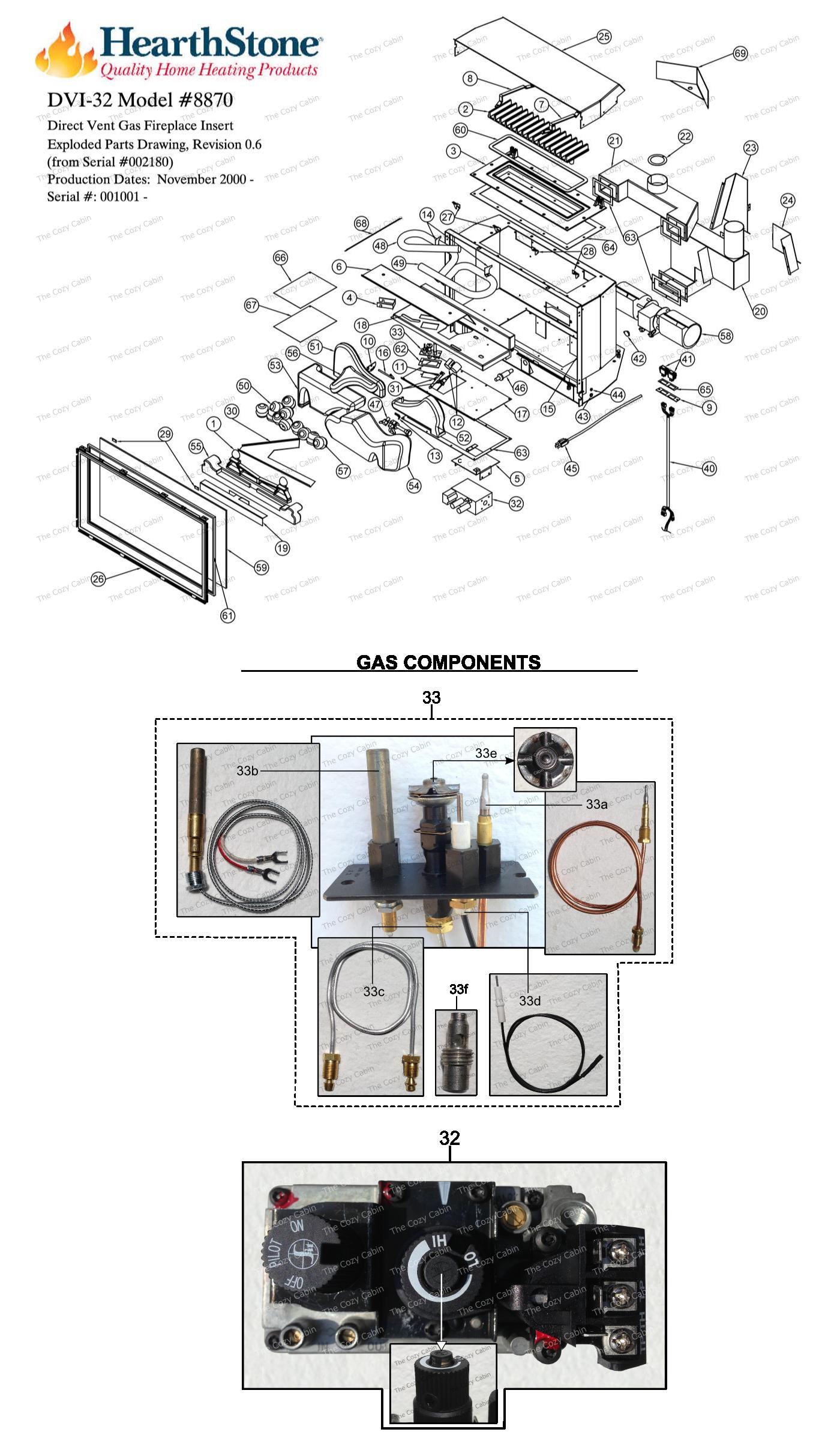 DVI-32 Model 8870 Parts  #8870
