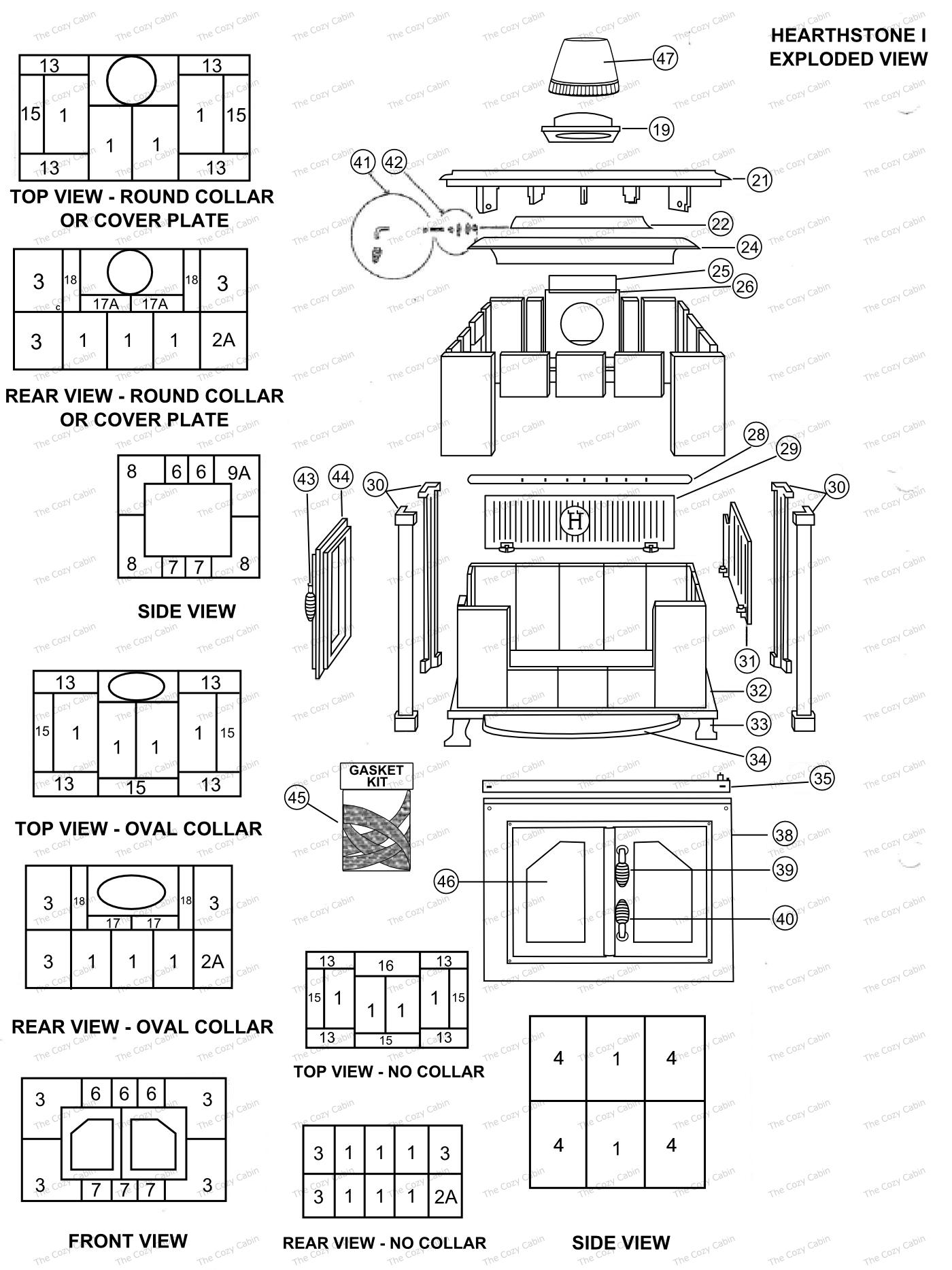 H-I Model Parts  #H-I