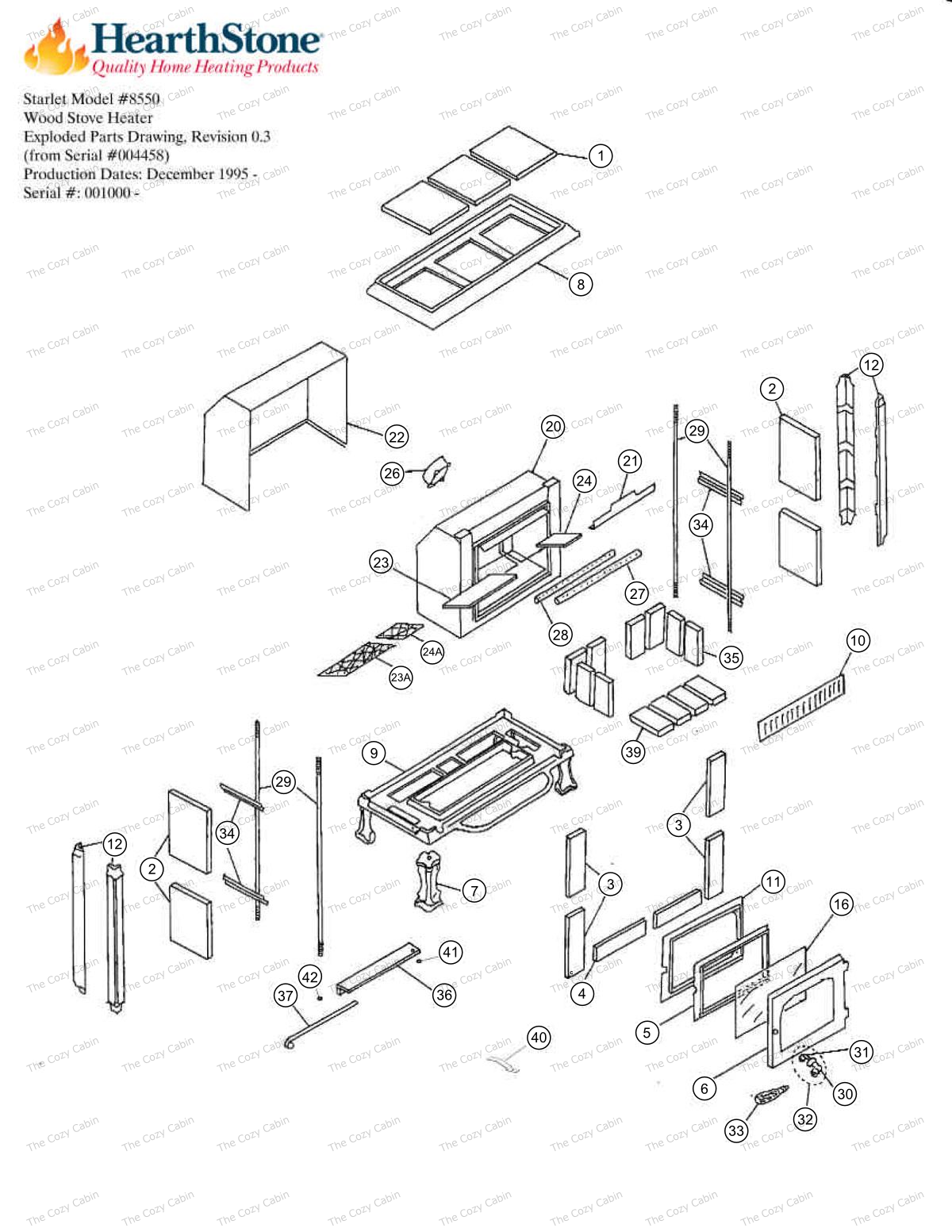 Starlet 8550 Exploded View Parts  #8550