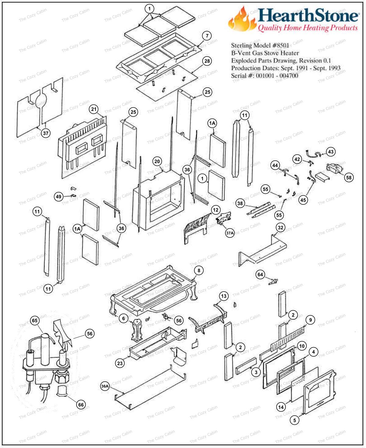 Sterling BV Model 8501 Parts  #8501