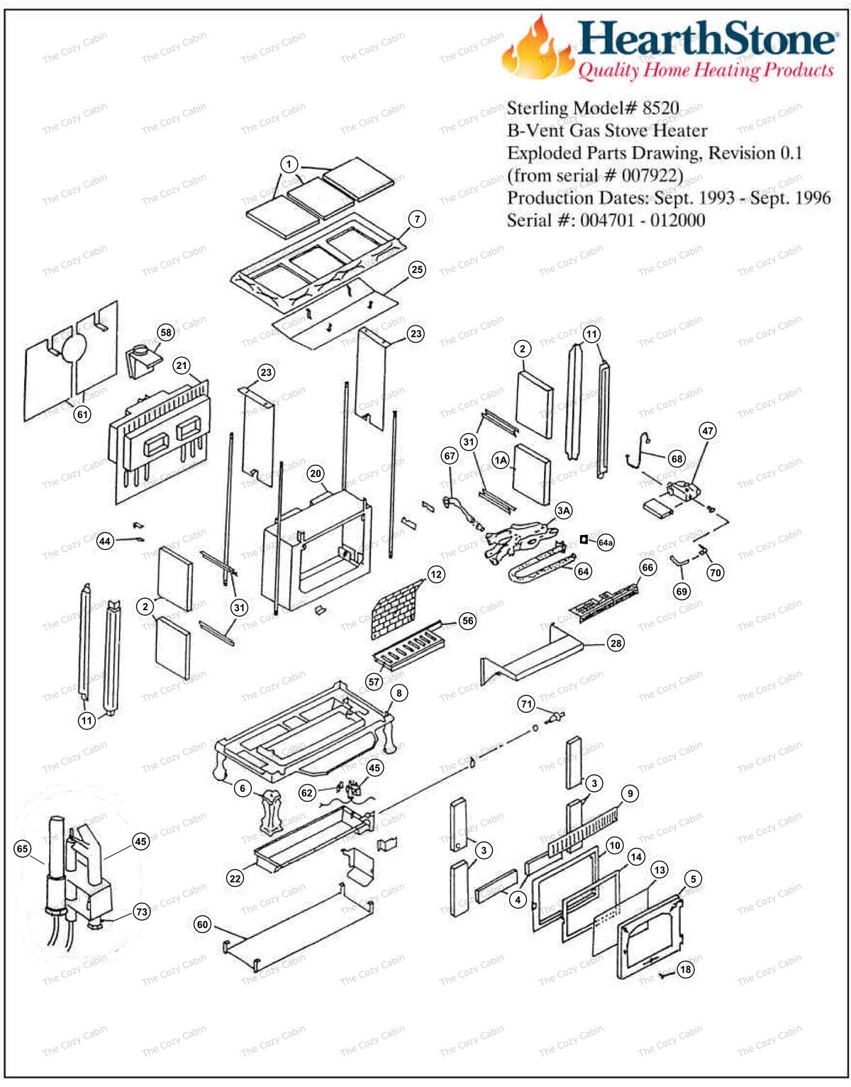 Sterling BV Model 8520 Parts  #8520