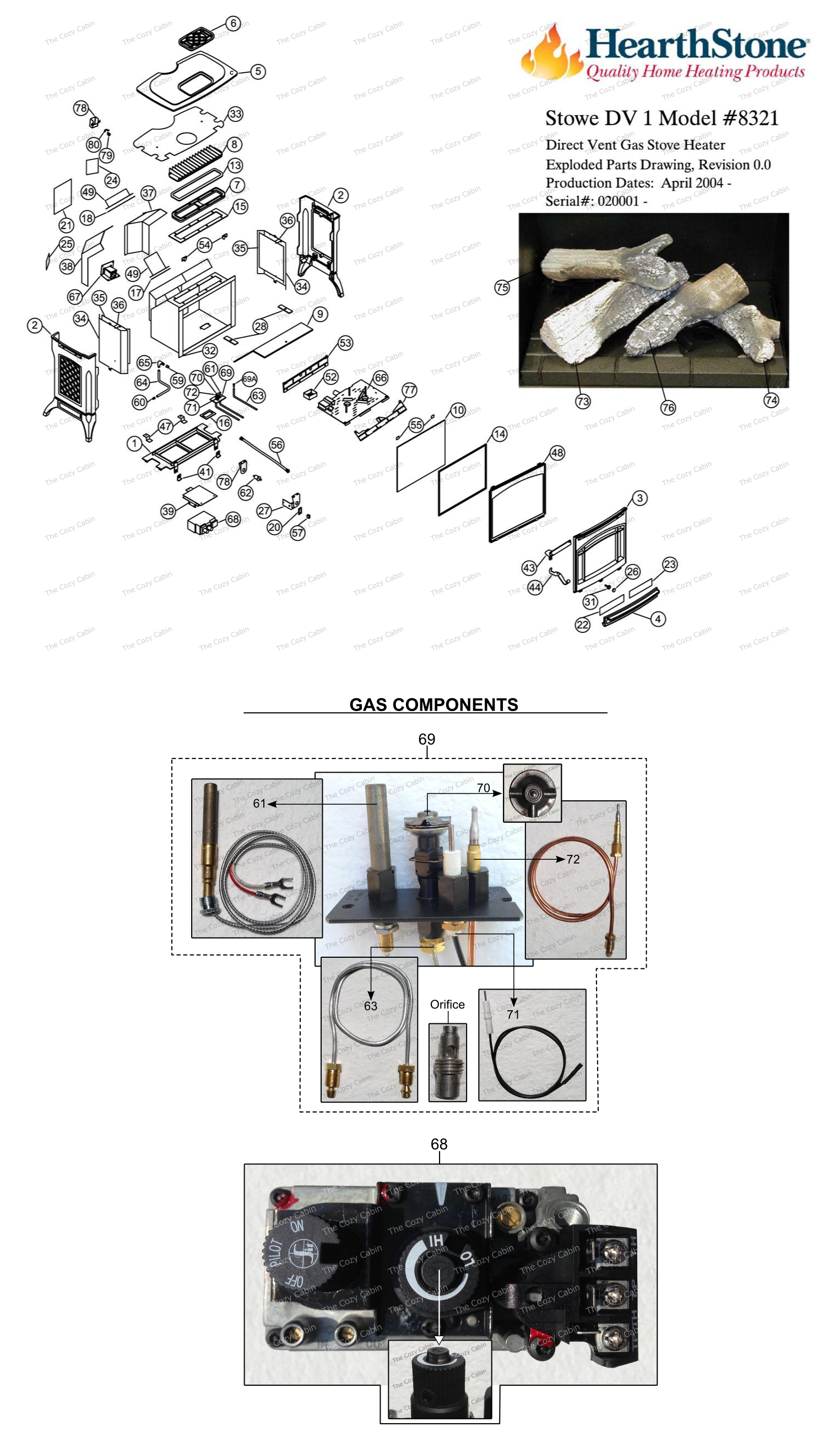 Stowe DV Model 8321 Parts  #8321