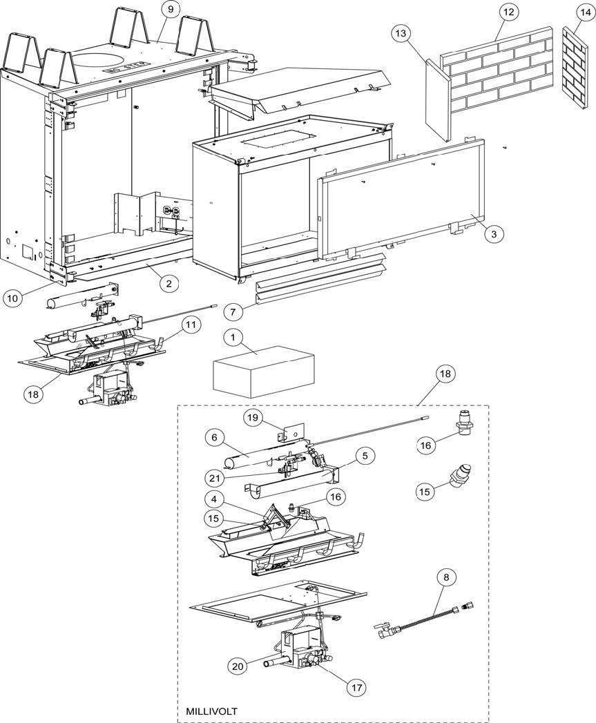 Fireplace Millivolt Ga Valve Wiring Diagram Database Gas Vf6000 Cmn 2 H2146 Cmp H2147 775604mrevvf6000 The Cozy Dexen