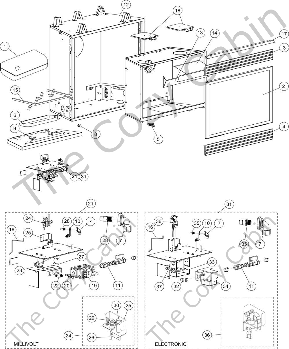 Dr500cmn65l09 Dr500cmp65l10 Dr500cen65l11 775635mrevncdr500 The Cozy Cabin Lennox Hearth Parts Store: Fireplace Gas Log Thermostat Wiring Diagram At Chusao.net