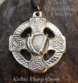 Celtic Harp Cross 42HarpCross