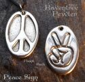 Peace Sign Oval -2 sided Peace-07