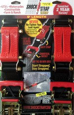 9' Black Ratchet Strap Double Pack 601