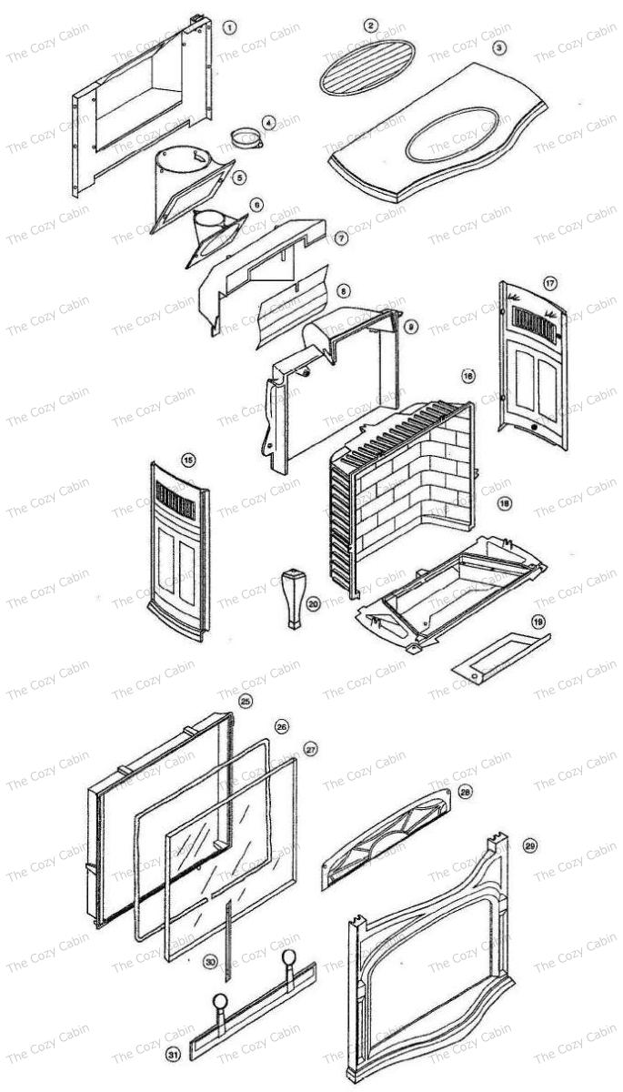 Radiance Gas Stove [NG & LP Burner Kits Ordered Separately] [2240 _2241 _ 2242 _ 2243 _ 2244] #2240-2244