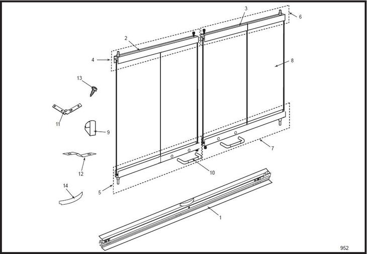 42gdk Standard Bifold Glass Doors The Cozy Cabin Stove