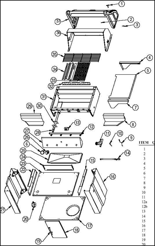 Vermont Castings BBQ Grill CF9055 3A #CF9055_3A