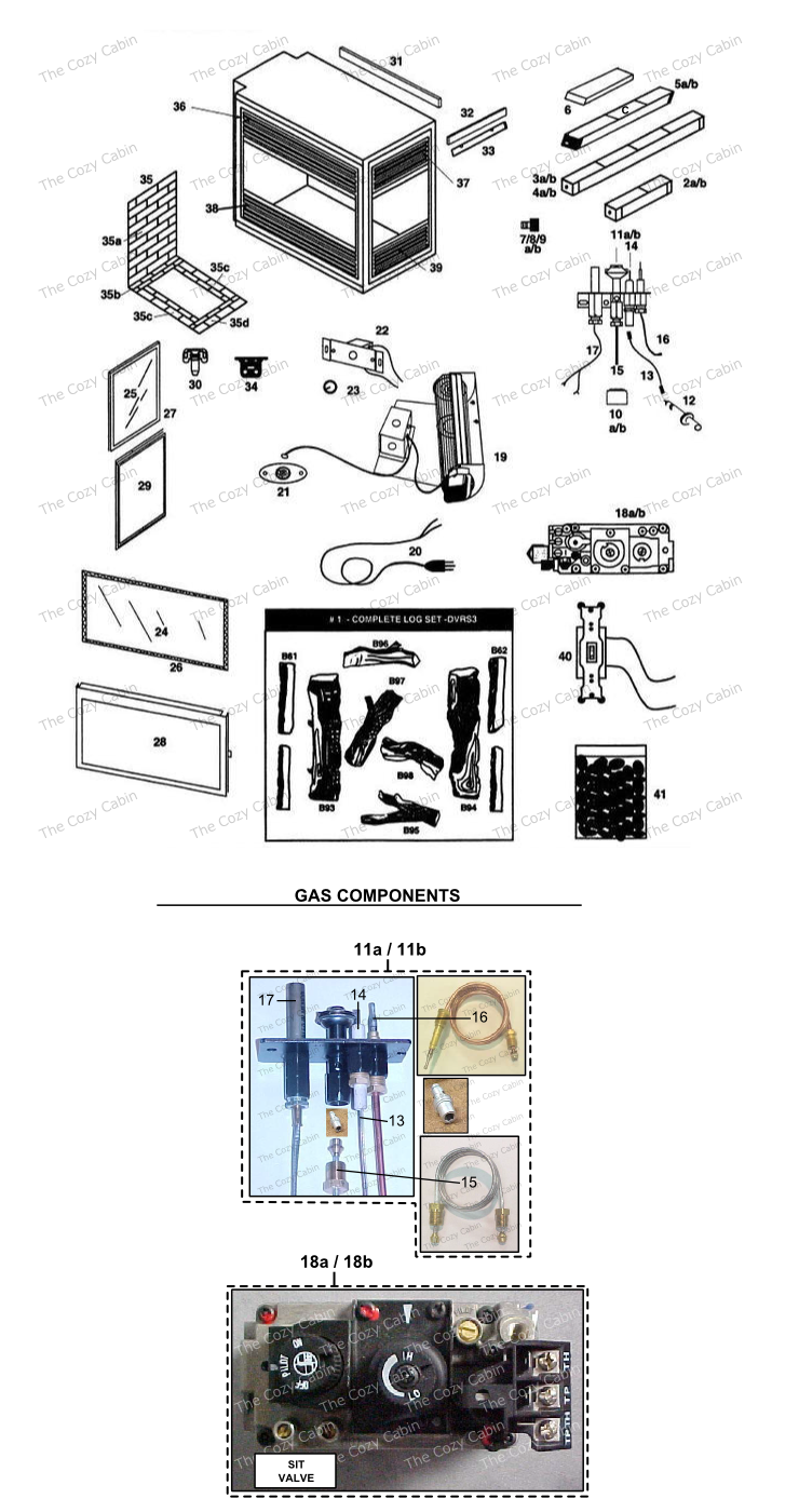 dvrs3 b92a b00 the cozy cabin stove u0026 fireplace parts store