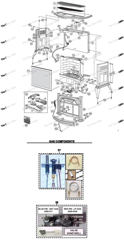 RUVS40 Radiance Vent Free Gas Heater (0002750 0002756) #RUVS40