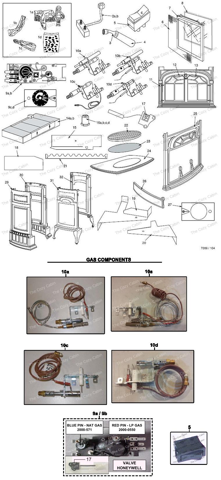 UVS27R / M Stardance & Pinnacle Vent Free Complete Units (Fireboxes 4030-4039, 4040-4049, 4085-4087, 4090-4092) #UVS27R-M2