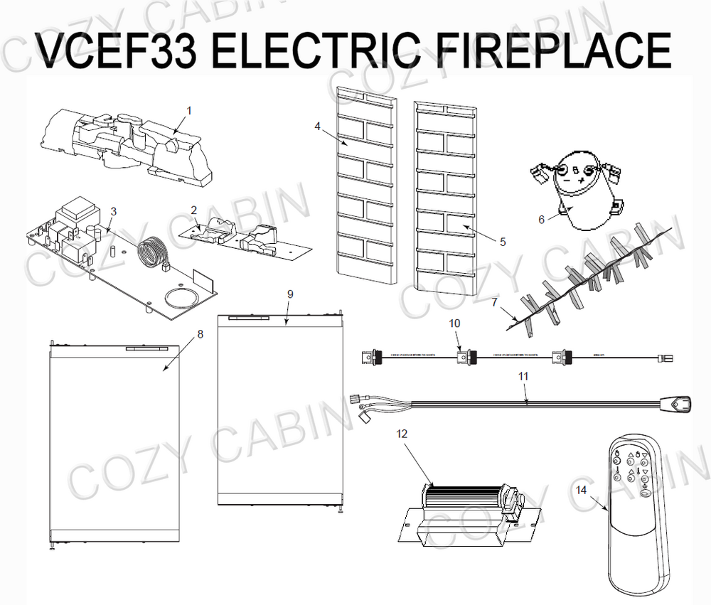 Electric Fireplace (VCEF33) #VCEF33