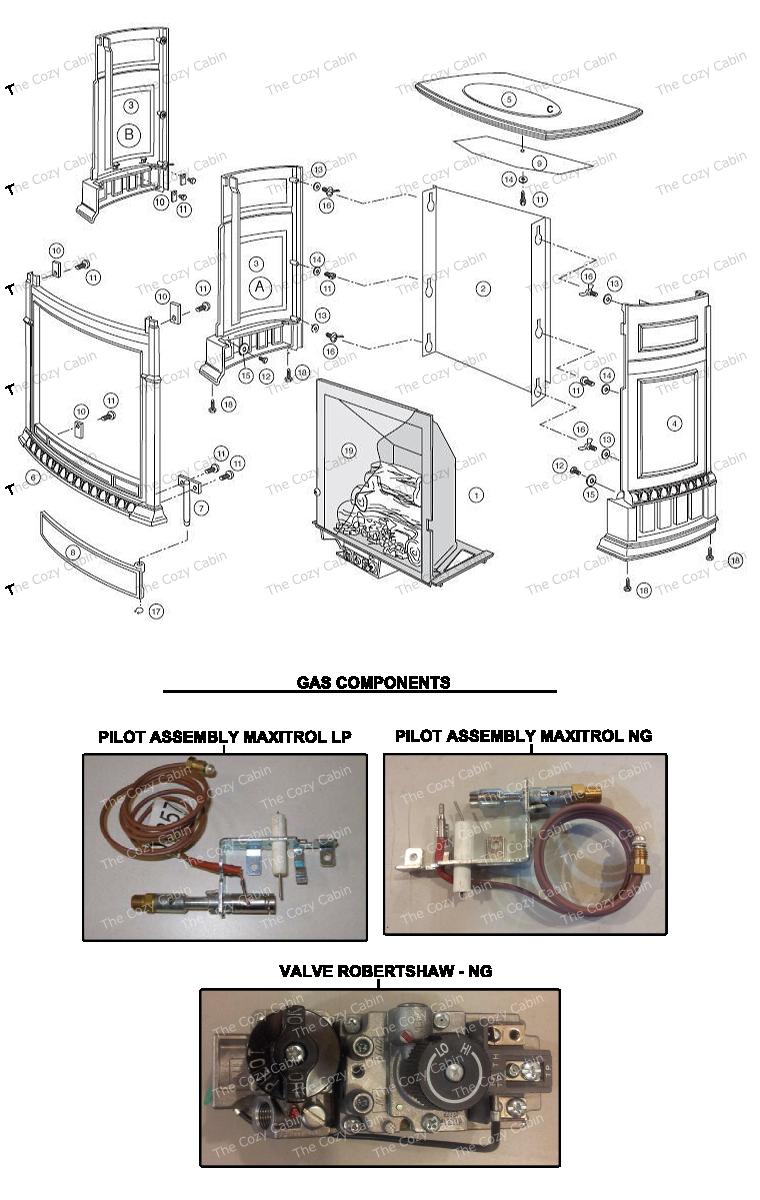UV25M Pinnacle Vent Free Gas Heater  #VF25M