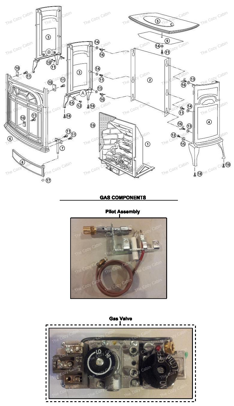 VF25 Stardance Vent Free Gas Heater #VF25