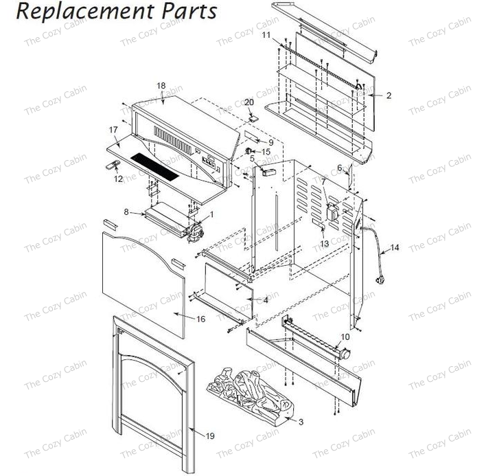 gas fireplace insert replacement parts