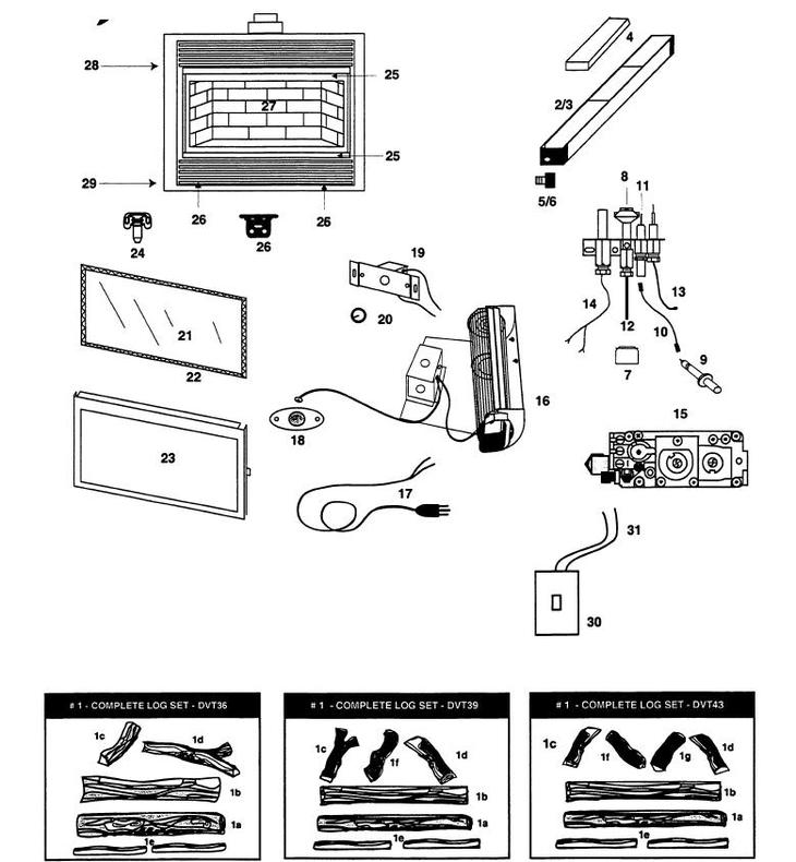 Fireplace Design fireplace replacement parts : DVT43 (D21A-B00) The Cozy Cabin Stove & Fireplace Parts Store
