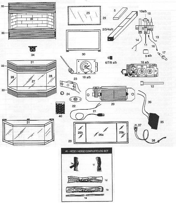 HEB32RN,RP,TN,TP (L31A,B,F,G00) (HEB32RN) The Cozy Cabin Stove ...