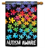 Everyday MatMates Autism Aware Standard or Garden Flag, Mailbox Cover 5662