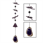 Habitats - Dragonfly Windbell - Purple Agate 5900