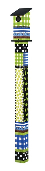 Studio M 5' Gingham Birdies Bluebird House Art Pole 5895
